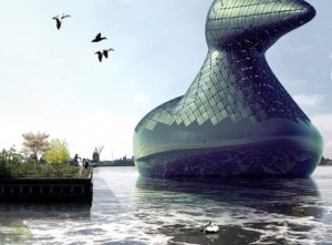 20.7.2014_Ενεργειακή Πάπια ένα έργο τέχνης που παράγει ηλιακή και υδροηλεκτρική ενέργεια [pics]