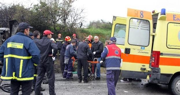 Σύγκρουση οχημάτων με θανάσιμο τραυματισμό ενός ατόμου στην Ε.Ο. Σπάρτης-Γυθείου