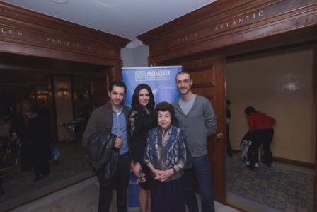 Λίλη Βενιζέλου με Στυλιανό, Νόπη Ρωμανίδου και Χρήστο Πετρίδη.
