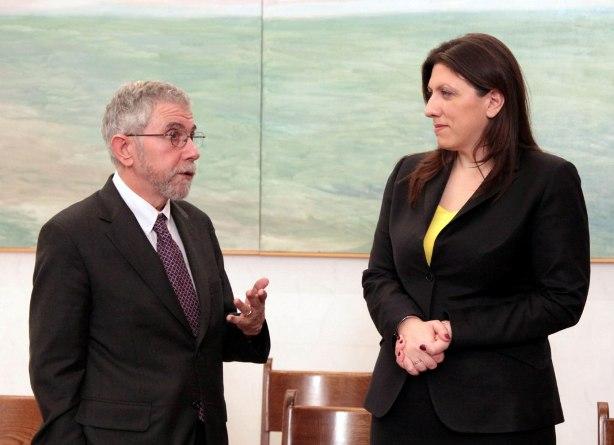 21.4.2015_Η Πρόεδρος της Βουλής συναντήθηκε με τον νομπελίστα οικονομολόγο Πολ Κρούγκμαν