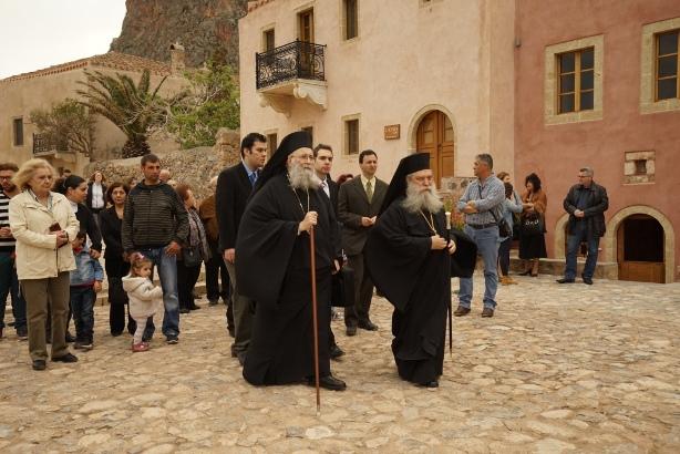 21.4.2015_Με βυζαντινή μεγαλοπρέπεια εορτάστηκε η Παναγία Χρυσαφίτισσα στη Μονεμβασία