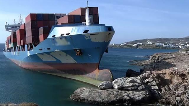 30.7.2015_Πρασάραξη φορτηγού πλοίου ανατολικά των Κυθήρων