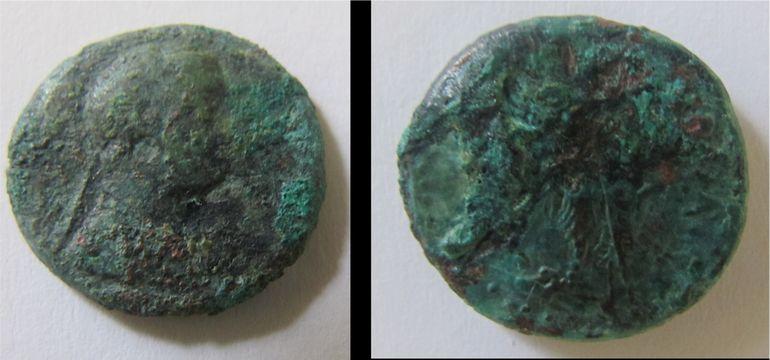 3.11.2015_Σημαντικά ευρήματα από την ανασκαφική έρευνα στο Χιλιομόδι Κορινθίας_Νόμισμα Πτολεμαίου