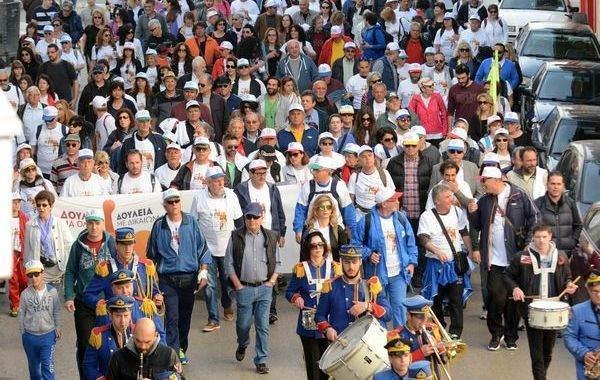 4.4.2016_Μεγάλη πορεία κατά της ανεργίας από την Πάτρα στην Αθήνα