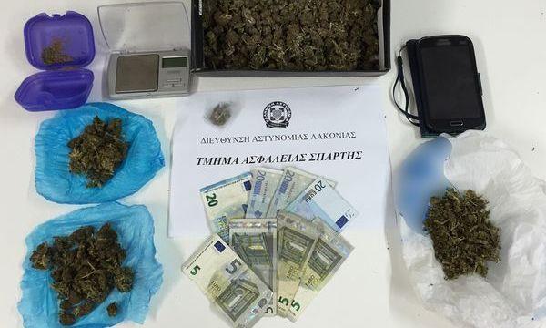 7.4.2016_Συλλήψεις για όπλα και ναρκωτικά στη Σπάρτη