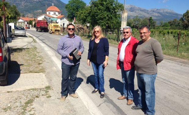 20.5.2016_Ξεκίνησαν οι εργασίες συντήρησης του δρόμου Σπάρτη - Μυστρά