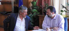Συνάντηση του Σταύρου Αραχωβίτη με τον Δήμαρχο Σπάρτης