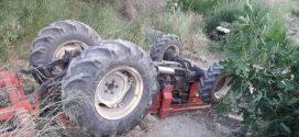 Ανατροπή γεωργικού ελκυστήρα στον Άγιο Νικόλαο Βοιών (ΦΩΤΟ)
