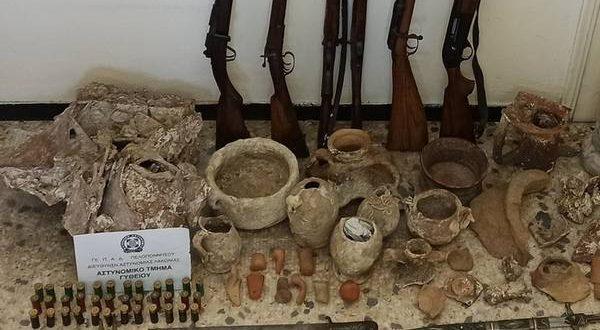 Συνελήφθη ένα άτομο για κατοχή αρχαίων αντικειμένων στη Λακωνία