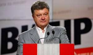 Ukrainian businessman, politician and presidential candidate Poroshenko attends a news conference in Kiev