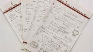 25.6.2014_Ρεκόρ σε δημοπρασία για χειρόγραφο τραγούδι του Μπομπ Ντίλαν