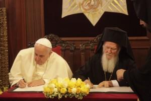 30.11.2014_Η κοινή διακήρυξη των δυο Προκαθημένων στο Φανάρι