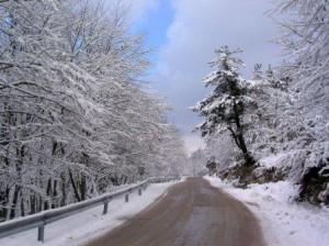 31.12.2014_Η κατάσταση στο οδικό δίκτυο της Πελοποννήσου λόγω της χιονόπτωσης - Ενημέρωση ώρα 17.00