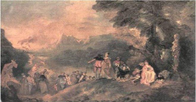 Jean-Antoine Watteau, Αναχώρηση για τα Κύθηρα (1717).