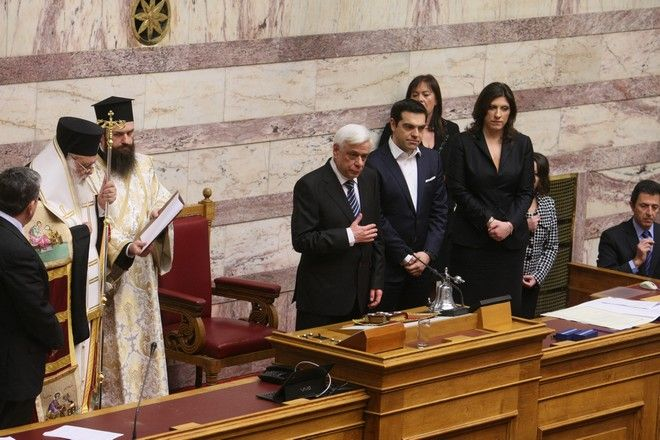 13.3.2015_Ορκίστηκε Πρόεδρος της Δημοκρατίας ο Προκόπης Παυλόπουλος
