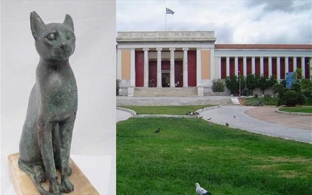 9.3.2015_Μια Αιγύπτια γάτα φιλοξενεί το Εθνικό Αρχαιολογικό Μουσείο