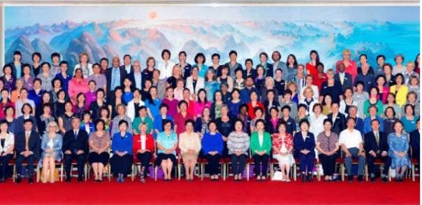 Αναμνηστική φωτογραφία του Έκτου Παγκόσμιου Φόρουμ Γυναικών Πρυτάνεων ,  στο οποίο συμμετείχε η Πρύτανις ως επίσημη προσκεκλημένη.