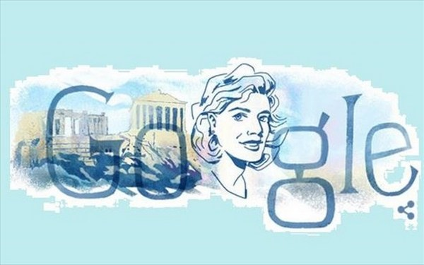 18.10.2015_H Google τιμά την Μελίνα Μερκούρη