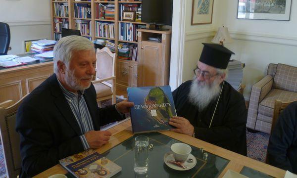 17.2.2016_Με τον Αρχιεπίσκοπο Σινά συναντήθηκε ο Περιφερειάρχης Πελοποννήσου