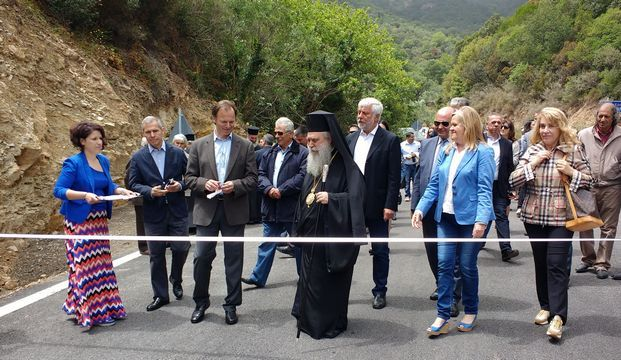 23.5.2016_Παραδόθηκε στην κυκλοφορία η νέα περιφερεακή οδός Σπηλαίου Καστανιάς