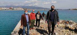 Μονεμβασία: Αυτοψία του Αντιπεριφερειάρχη στο έργο επέκτασης της Μαρίνας