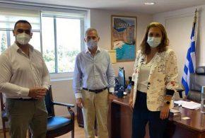 Στο Υπουργείο Τουρισμού Βερούτης – Δαβάκης για μαρίνες, καταδυτικά πάρκα και πεδία αναρρίχησης